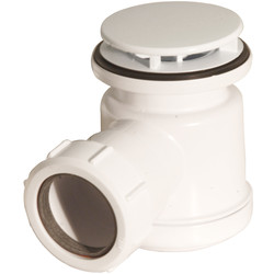 McAlpine McAlpine Shower Trap 19mm Seal 70mm Mushroom Flange White - 85309 - from Toolstation