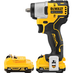"Dewalt DeWalt DCF902D2-GB 12V XR Brushless Compact 3/8"" Impact Wrench 2 x 2.0Ah - 85344 - from Toolstation"