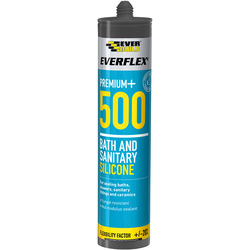 Everbuild Everflex 500 Bath & Sanitary Silicone 295ml White - 85399 - from Toolstation