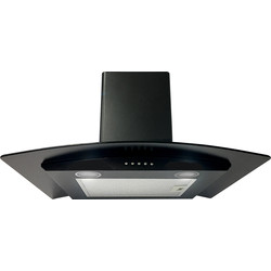 Culina 60cm Curved Extractor Hood Black