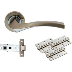 Carlisle Brass Sines Latch Pack - Ultimate Door Pack Satin Nickel/Polished Chrome - 85419 - from Toolstation
