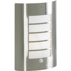 Zinc Sigma Slat Panel Wall Light With PIR - 85426 - from Toolstation