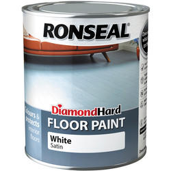 Ronseal Ronseal Diamond Hard Floor Paint White 750ml - 85500 - from Toolstation