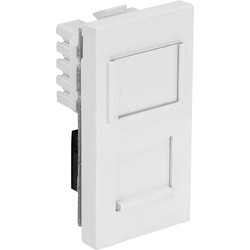 CAT5E UTP Wall Outlet Module (25mm) White - 85517 - from Toolstation