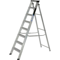 Youngman Youngman Industrial Builders Step Ladder 8 Tread SWH 2.81m - 85613 - from Toolstation