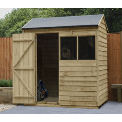 Forest Garden Overlap Pressure Treated Reverse Apex Shed 6 x 4ft
