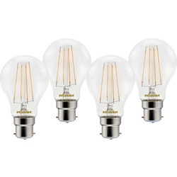 Sylvania Sylvania LED RT A60 Filament Clear GLS Lamp 7W BC (B22) 806lm - 85671 - from Toolstation