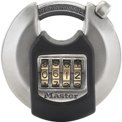 Master Lock Master Lock EXCELL Combination Disc Padlock 70 x 93 x 23mm - 85764 - from Toolstation