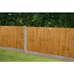 Forest Garden Featheredge Fence Panel - 4 Pack 123cm(h)x183cm(w)