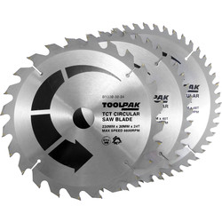 Toolpak Toolpak TCT Circular Saw Blades 230 x 30mm - 85768 - from Toolstation