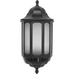 ASD ASD LED Half Lantern Black PIR 265lm - 85973 - from Toolstation