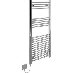 Kudox Kudox Electric Low Surface Temperature (LST) Prefilled Flat Towel Radiator 1200 x 500mm Chrome 70W - 86028 - from Toolstation