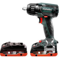 Metabo Metabo SSW 18 LTX 400 BL 18V Li-Ion Brushless Cordless Impact Wrench 2 x 4.0Ah - 86058 - from Toolstation