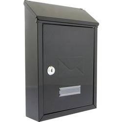 Burg-Wachter Compact Post Box Black - 86093 - from Toolstation