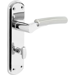 Tantalus Door Handles Bathroom Twin Tone