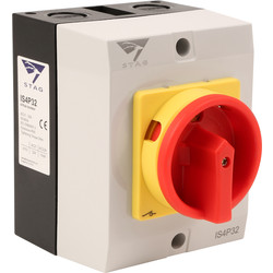 IMO Stag IMO Stag 4 Pole Rotary Isolator 32A IP65 - 86136 - from Toolstation