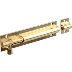 Unbranded Brass Door Bolt 100mm Straight - 86151 - from Toolstation