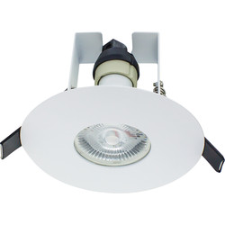 Integral LED Integral LED 70-100mm Cut Out Evofire IP65 Fire Rated Downlight White with Insulation Guard - 86234 - from Toolstation