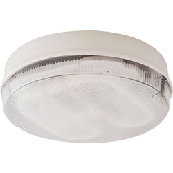 Fern Howard Fern Howard Trojan Round HF 28W 2D IP65 Bulkhead White Clear - 86269 - from Toolstation