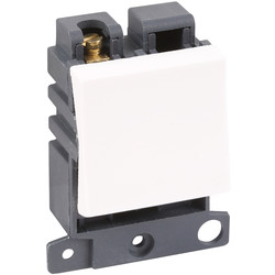 Scolmore Click Click Mode Grid Module 20A 2 Way (Twin Width) - 86281 - from Toolstation