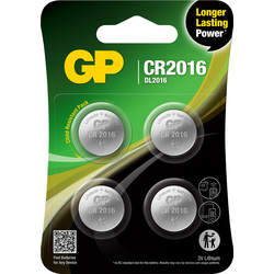 GP Lithium Battery CR/DL2016 3V