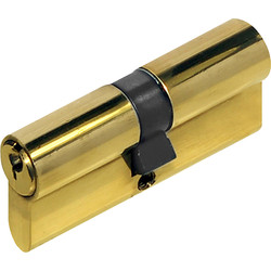 Unbranded 6 Pin Double Euro Cylinder 35-35mm Brass - 86393 - from Toolstation