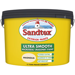 Sandtex Ultra Smooth Masonry Paint 10L Magnolia