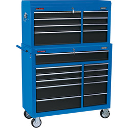 "Draper Draper Combined Roller Cabinet and Tool Chest 40"" 19 drawer - 86472 - from Toolstation"