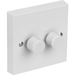 Axiom Axiom LED Dimmer Switch 2 Gang 2 Way - 86510 - from Toolstation