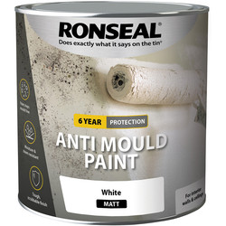 Ronseal Ronseal 6 Year Anti Mould Paint 2.5L Matt White - 86512 - from Toolstation