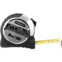 Stanley FatMax Stanley FatMax Pro Tape Measure 8m/26Ft - 86533 - from Toolstation