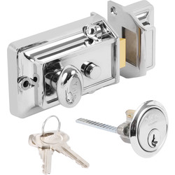 Yale 77 Traditional Nightlatch Chrome Standard