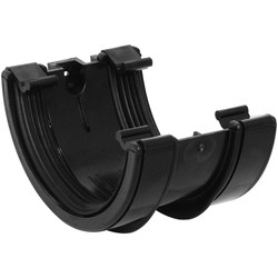 Aquaflow 112mm Half Round Union Bracket Black - 86578 - from Toolstation
