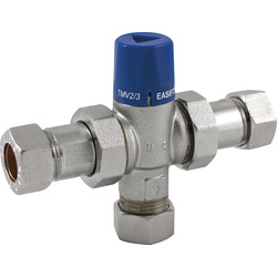 Reliance Valves Reliance EASIFIT 2in1 Thermostatic Mix Valve 22mm - 86654 - from Toolstation