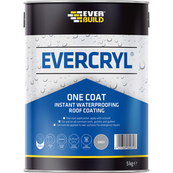 Everbuild Evercryl Roof Repair Grey 5kg One Coat - 86684 - from Toolstation