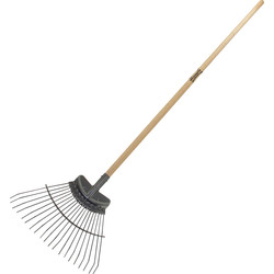 Wilkinson Sword Wilkinson Sword Ash Handle Stainless Steel Flexco Lawn/Leaf Rake 170cm x 45cm - 86709 - from Toolstation