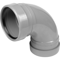 Aquaflow Bend 110mm 92.5° Double Socket Grey - 86845 - from Toolstation