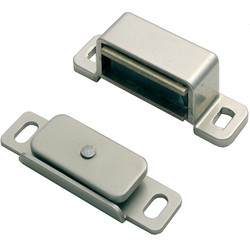 Carlisle Brass Superior Steel Magnetic Catch 46 x 15 x 14mm Nickel Plate - 86908 - from Toolstation