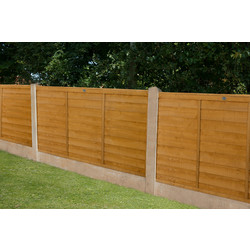 Forest Garden Overlap Fence Panel - 3 Pack 91cm(h)x183cm(w)