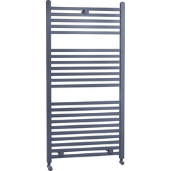 Cassellie Lindley Straight Designer Radiator 1110 x 500mm Anthracite 1860Btu - 87002 - from Toolstation