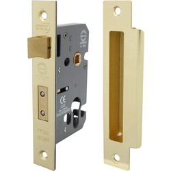 Euro Profile Sashlock 63mm Electro Brass - 87065 - from Toolstation