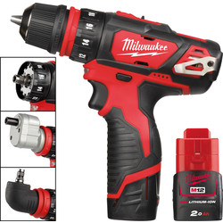Milwaukee Milwaukee M12BDDXKIT-202C 12V Li-Ion Cordless 4 in 1 Drill Driver 2 x 2.0Ah - 87095 - from Toolstation