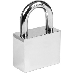Steel Padlock 50 x 10 x 27mm - 87162 - from Toolstation