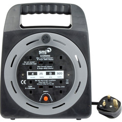 SMJ 4 Socket 13A Semi-enclosed Cable Reel 25m 240V - 87169 - from Toolstation