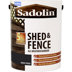 Sadolin Shed & Fence Treatment 5L Ebony Wood