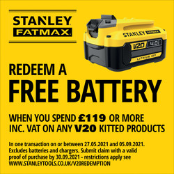 Stanley FatMax V20 18V Battery