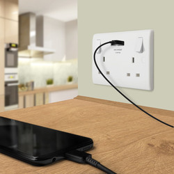 BG 13A Low Profile SP USB Switched Socket