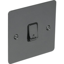 Flat Plate Black Nickel 10A Switch Bell Push - 87372 - from Toolstation
