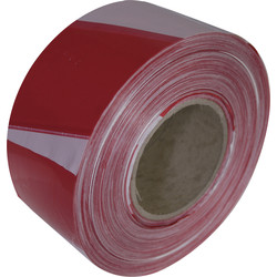 Red & White Barrier Tape 70mm x 500m - 87448 - from Toolstation
