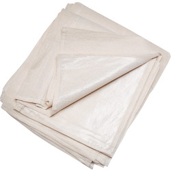 Cotton Twill Poly Backed Dust Sheet 1.8m x 0.9m